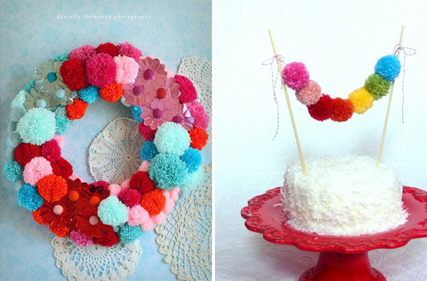 pom poms theme party